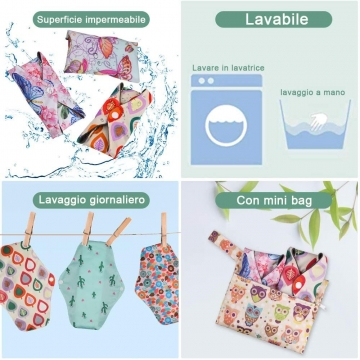 Sanitary pad Washable in...