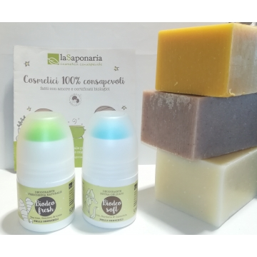 Natural soap + Deo roll-on...